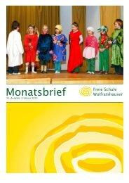 Monatsbrief Februar - Freie Waldorfschule Wolfratshausen