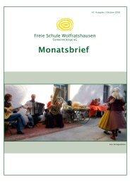 Monatsbrief Oktober 2008 - Freie Waldorfschule Wolfratshausen
