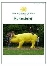 Monatsbrief Juni 2009 - Freie Waldorfschule Wolfratshausen