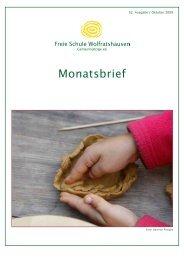 Monatsbrief Oktober 2009 - Freie Waldorfschule Wolfratshausen
