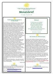 Monatsbrief - Freie Waldorfschule Wolfratshausen