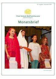 Monatsbrief November 2009 - Freie Waldorfschule Wolfratshausen