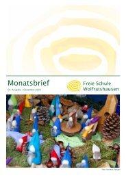 Monatsbrief Dezember 2009 - Freie Waldorfschule Wolfratshausen