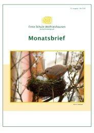 Monatsbrief Mai 2008 - Freie Waldorfschule Wolfratshausen