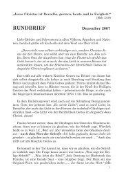 RUNDBRIEF - Freie Volksmission Krefeld