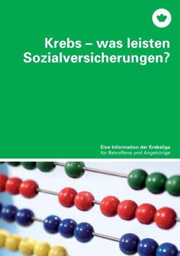 Krebs – was leisten Sozialversicherungen? - Krebsliga Schweiz