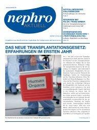 das neue transplantationsgesetz: erfahrungen im ... - nephro Aktuell