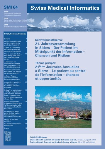 Swiss Medical Informatics - SGMI