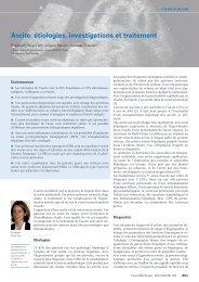 Ascite: étiologies, investigations et traitement - Swiss Medical Forum