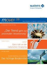Lesen Sie mehr in unserem aktuellen Newsletter move - Mathys AG ...