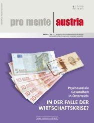 in der falle der wirtschaftskrise? - pro mente Burgenland