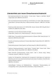 Literaturverzeichnis Erwachsenenschutzrecht - Spital Netz Bern