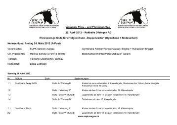 und Pferdesporttag 29. April 2012 – Reithalle ... - Reitkalender