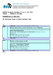 SVMTRA Kongress Interlaken, 9. bis 11. Juni 2011 THEMA ...