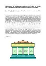 Richtlinien zur Abklärung und für Nachkontrollen ... - Dr. Carl Oneta