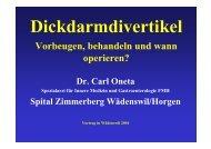 Kolondivertikulose - Dr. Carl Oneta