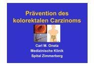 Prävention des kolorektalen Carzinoms (940 kb) - Dr. Carl Oneta
