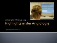 Highlights in der Angiologie