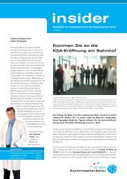 Insider 1/2012 - Kantonsspital Aarau
