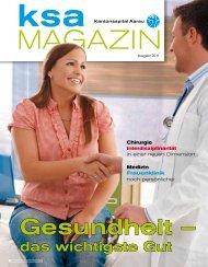 KSA Magazin 2011 - Kantonsspital Aarau