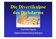 Carl M. Oneta Spital Zimmerberg Horgen - Dr. Carl Oneta