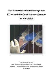 intraossaere-Systeme-im-Vergleich - Universitätsspital Basel