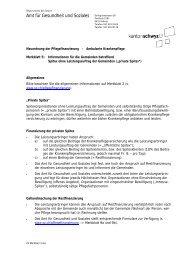 Spitex ohne Leistungsauftrag der - Kanton Schwyz