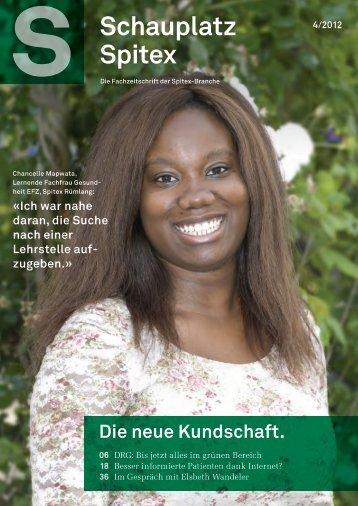 Schauplatz Spitex Nr. 4 - August 2012 - Lehrbetriebsverbund Heime ...