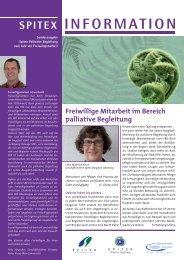 Sonderausgabe - Palliative Begleitung - Spitex Zentrum Burgdorf