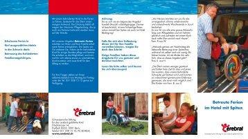 Betreute Ferien im Hotel mit Spitex - Schweizerische Stiftung für das ...