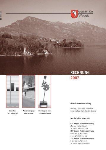 Rechnung 2007 - Gemeinde Weggis
