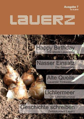 Nasser Einsatz Lichtermeer Happy Birthday Alte ... - Gemeinde Lauerz