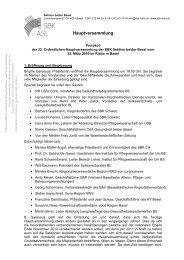 Protokoll der Hauptversammlung 2010 - Schweizer Berufsverband ...