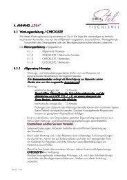 Therapie-Kinderbett Lisa Wartungsanleitung/Checkliste