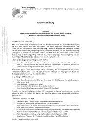 Protokoll der Hauptversammlung 2011 - Schweizer Berufsverband ...