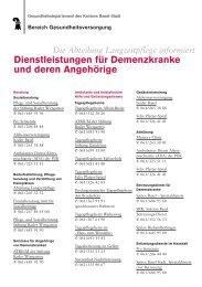 Dienstl Demenzk - Senioren-Forum Basel