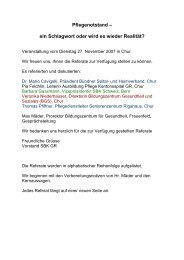 Pflegenotstand - SBK Sektion Graubünden