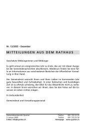 MITTEILUNGEN AUS DEM RATHAUS - Gemeinde Quarten