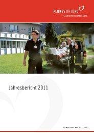 Jahresbericht 2011 (PDF, 2 mb) - Flury Stiftung