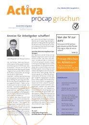 Anreize für Arbeitgeber schaffen! - Procap Grischun