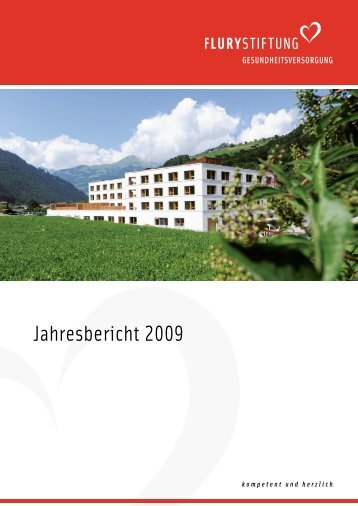 Jahresbericht 2009 (PDF, 2 mb) - Flury Stiftung