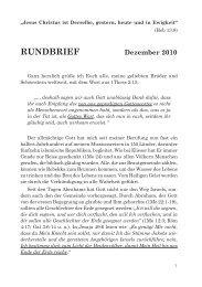 Dezember 2010 - Freie Volksmission Krefeld