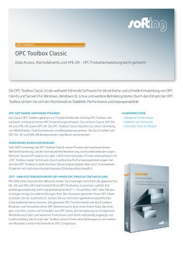 OPC Toolbox Classic - Softing Industrial Automation