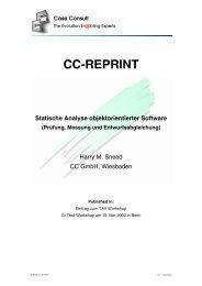 Statische Analyse objektorientierter Software [341 KB] - CC GmbH