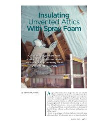 Insulating Unvented Attics With Spray Foam - Green Horizon