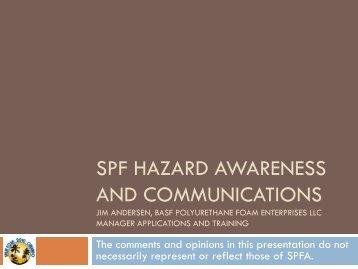 SPFA SPF Hazard Awareness and Communications - Spray ...