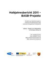 Halbjahresbericht 2011 – BASB-Projekte - vamos