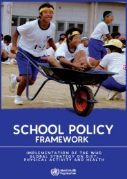 School policy framework - World Health Organization