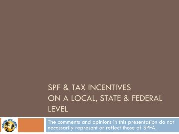 SPF & Tax Incentives on a Local, State - Spray Polyurethane Foam ...