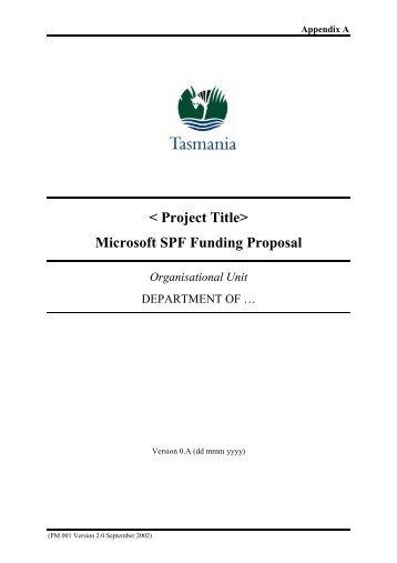 SPF Project Handbook - Appendix A